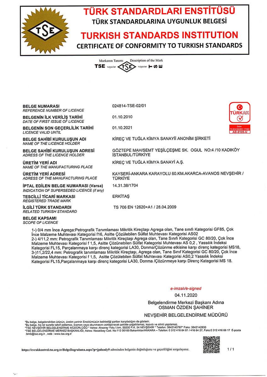 TS 706 EN 12620+A1